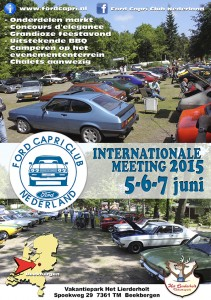 Internationale meeting Ford Capri Club Nederland 2015